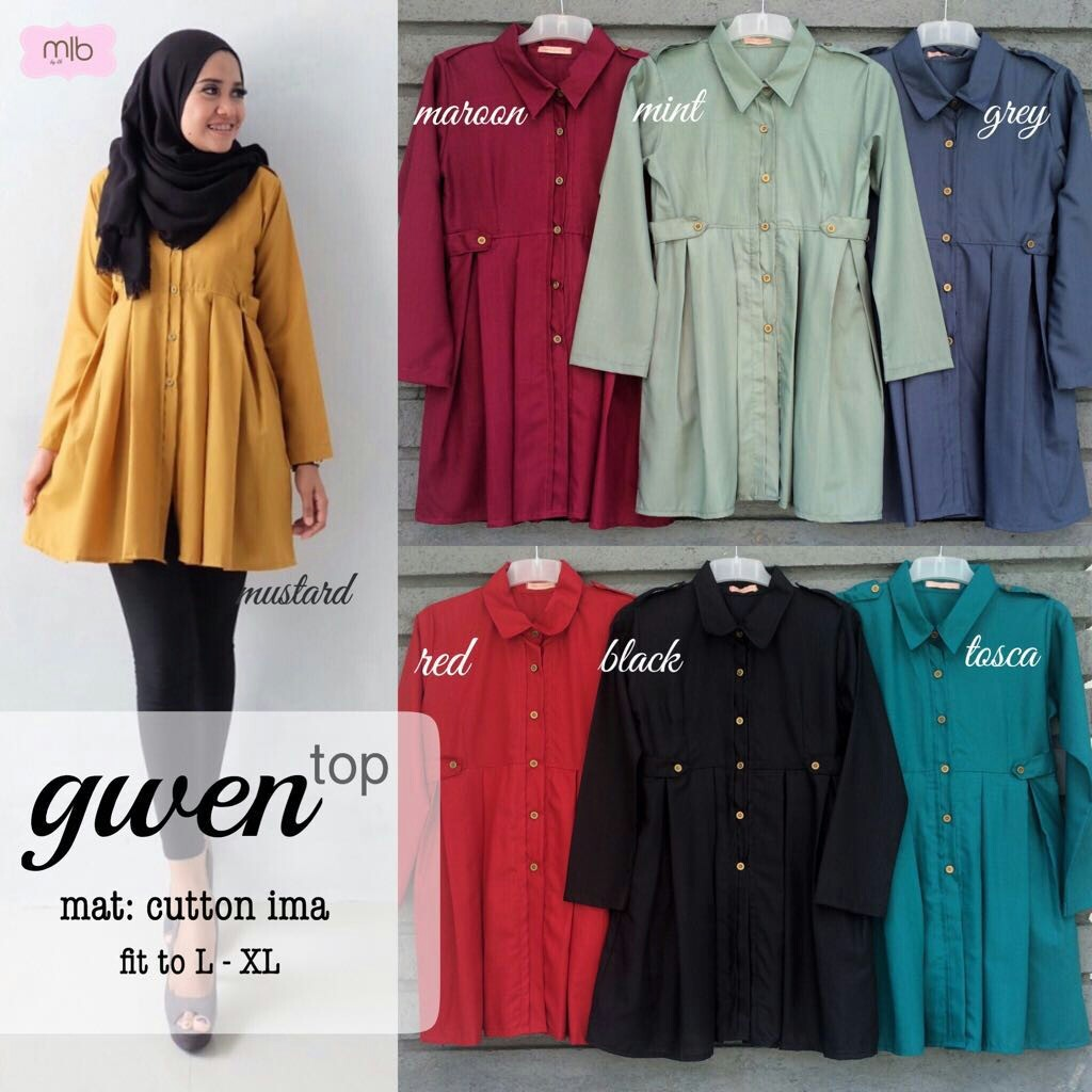 SUPPLIER HIJAB REALPICT : gwen top by mlb