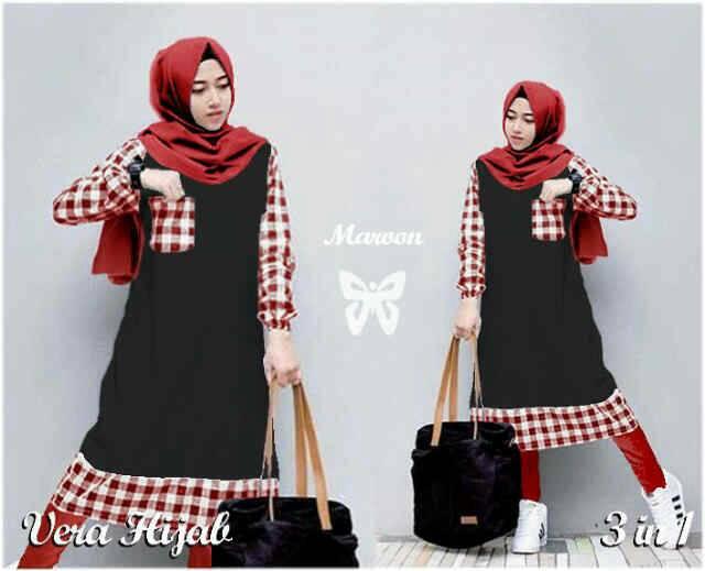 Vera Hijab Maroon