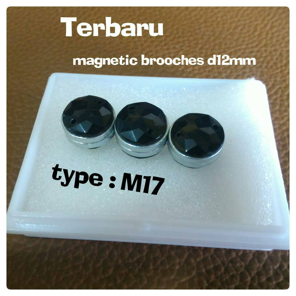 Bross Pin D12mm Magnet Jilbab Kerudung Hijab Murah Mewah