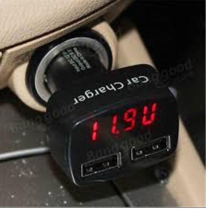 Charger Mobil Dual Usb With Led Display J9