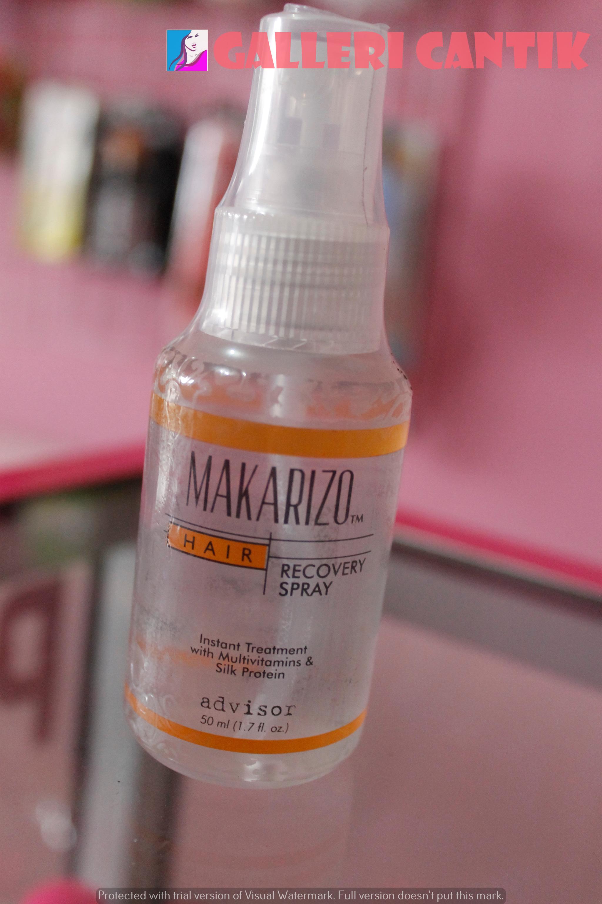 Jual Makarizo Hair Recovery Spray 50ml Galleri Cantik Tokopedia