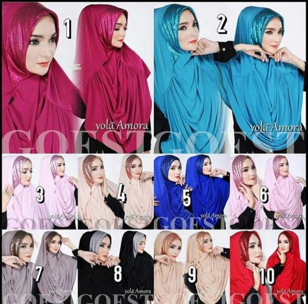 Hijab/Jilbab Yola Amora  Jilbab instant dengan aksen rempel depan