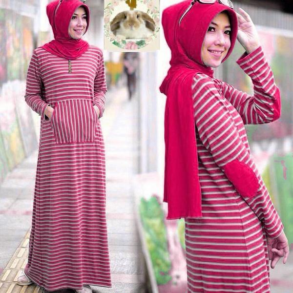 Hijab siffa Red ( Maxi +pashmina pad + busui )