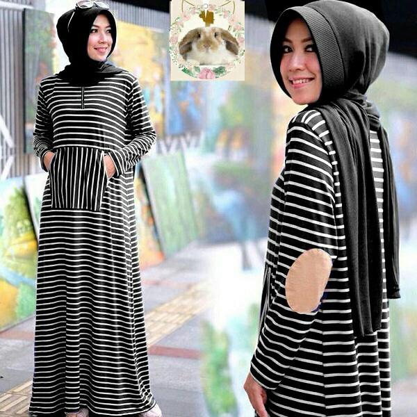Hijab siffa black ( Maxi +pashmina instan pad + busui  )
