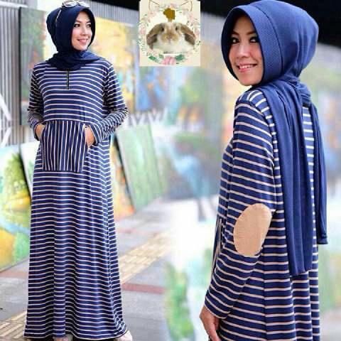 Hijab siffa Navy ( Maxi +pashmina pad + busui )
