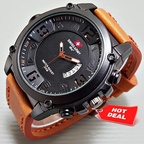 Jam Tangan Pria Swiss Army Ultrasize Leather