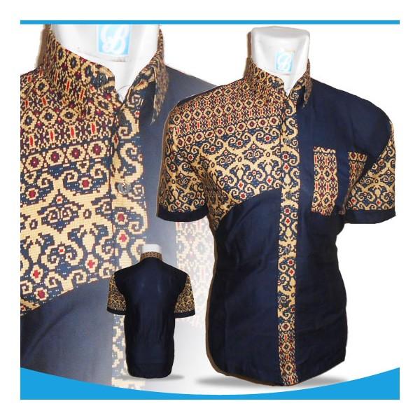 Baju Batik Pria Kemeja Batik Pria Batik Long Coklat Diamond Batik ... 433a0ea64a