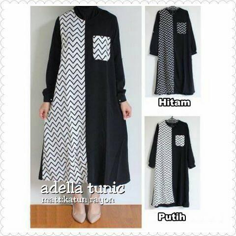 Tunik zigzag / adella tunic / tunik murah / supplier pakaian hijab