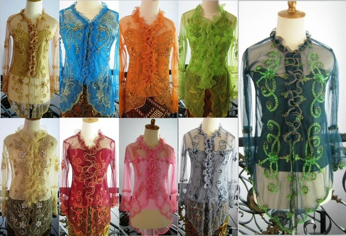 Jual Kebaya Baju Modern Wisuda Pesta Pre Wedding Tile Payet Lengan