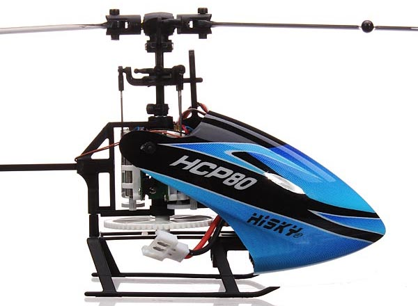 RC Helicopter Hisky HCP80 FBL80 6CH Flybarless 3D BNF
