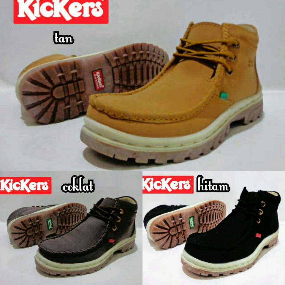 Jual Sepatu Boots Kickers Ferari Safety / Kulit / ujung besi Murah