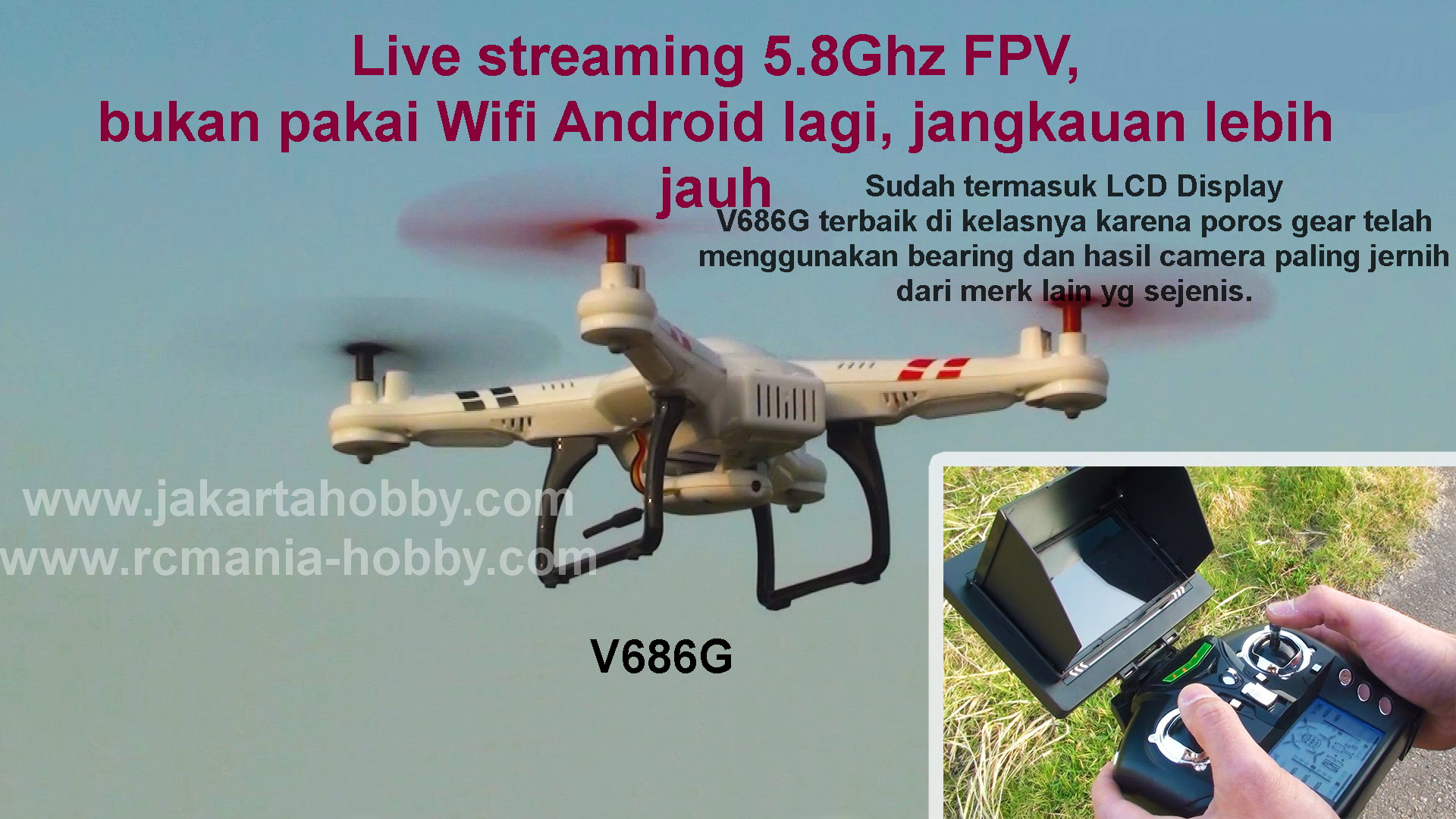JakartaHobby WL V686G FPV Headless Mode RC Quadcopter w/2MP Camera