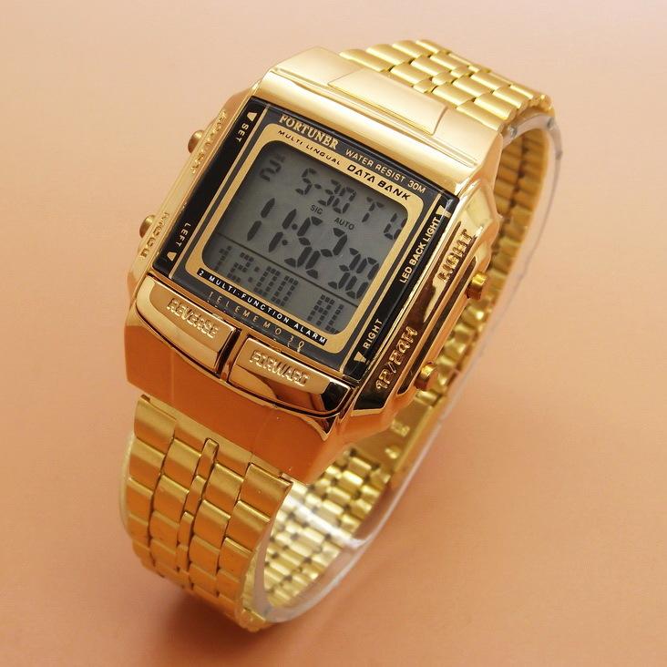 Jam Tangan Pria / Wanita Fortuner FR901 Original Rantai Gold