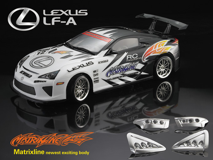 Matrixline Lexus LF-A Clear Body RC 1/10