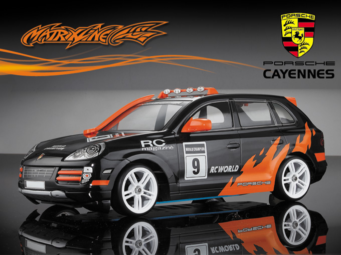 Matrixline PORSCHE Cayennes Clear Body 1/10