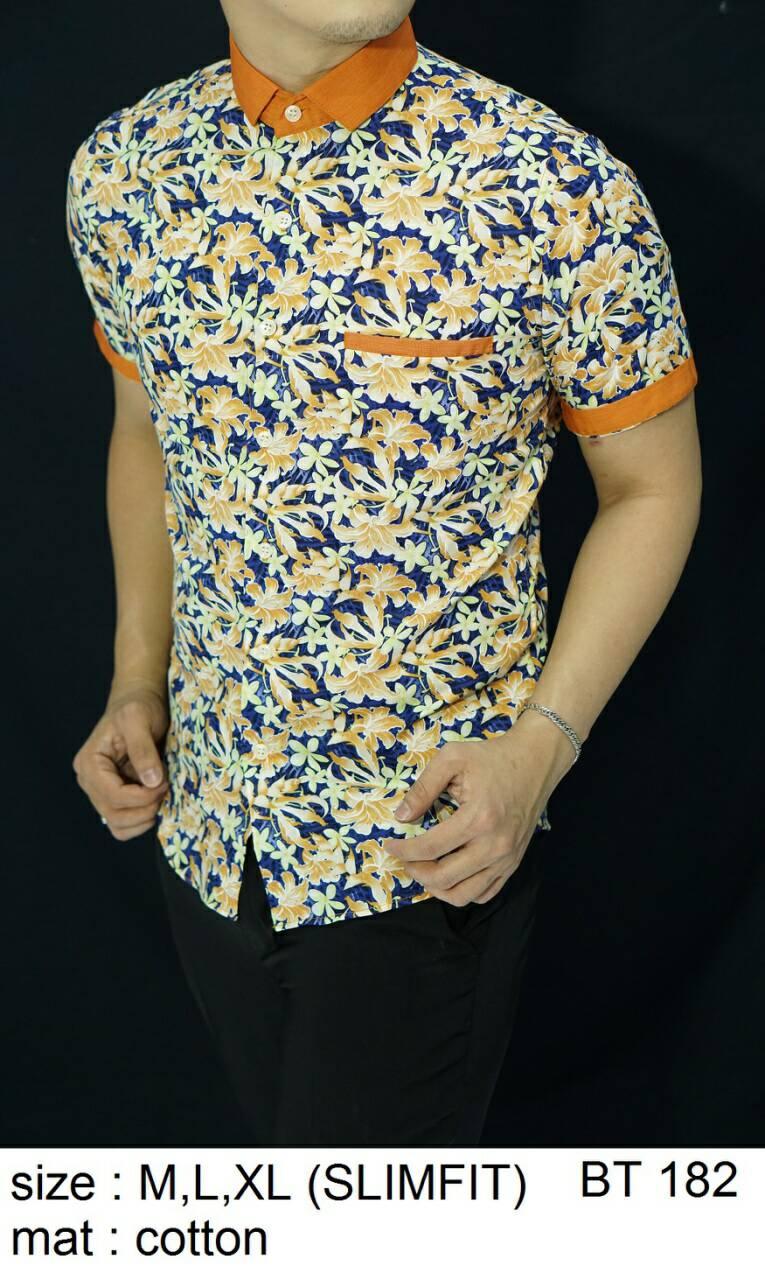 Batik Slim Fit - KUALITAS MALL ELITE!! - Kemeja Slimfit Keren BT182