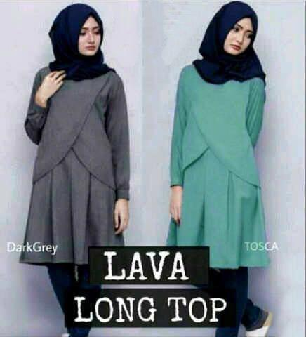 Atasan besar big size / Baju XL / baju muslim murah / Lava Top / Hijab