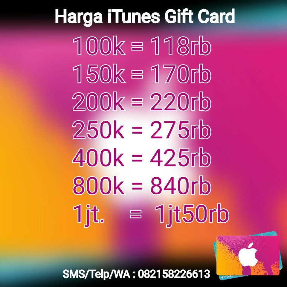 Itunes Gift Card Indonesia Tokopedia Ideas Rp 150000 Jual Rivaldy