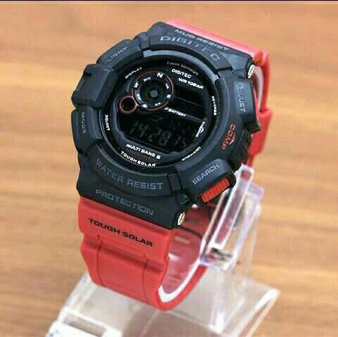 Jam Tangan Pria Digitec Original DG2028T Digital Rubber