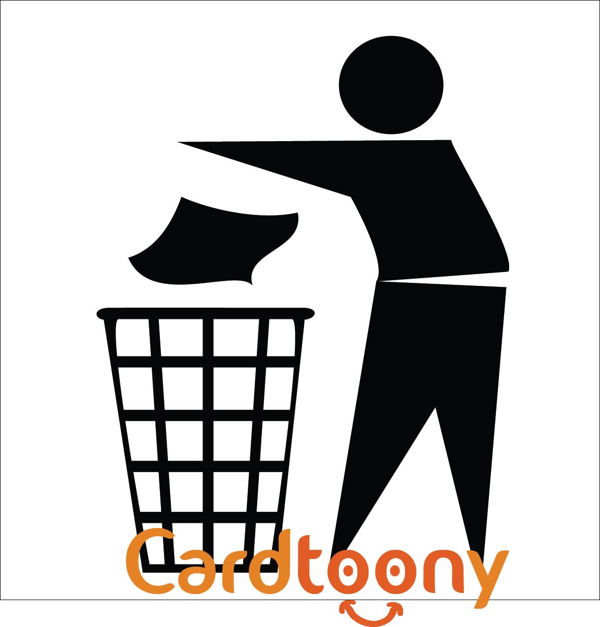 Jual Stiker Sticker Tanda Jagalah Kebersihan Buang Sampah Di Tempatnya Cardtoony Tokopedia