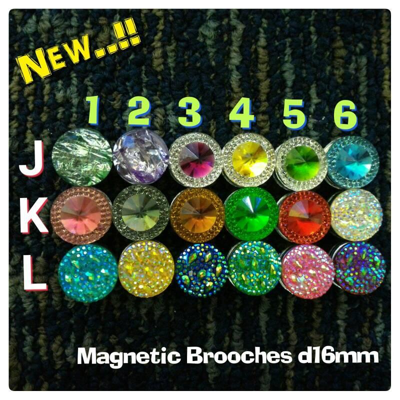 Pin/Bros/Broochs Magnet D16 Hijab Cantik Kerudung Murah Jilbab Unik
