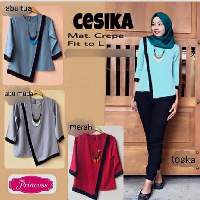 baju kantor / pakaian kerja / baju formal / hijab murah / Cesika Top