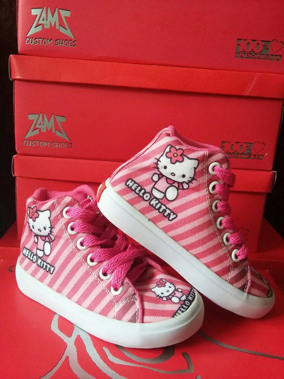 Jual Sepatu Karakter Hello Kitty Size 40 45 Tali Tinggi Po Anggaran Terbaik Kets Wanita Yutaka