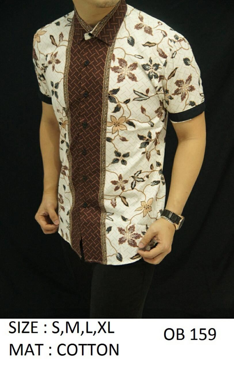 Batik - Kemeja Slim Fit Motif Keren OB159