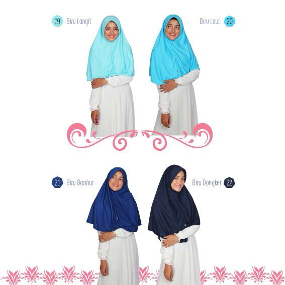 Hijab Alsa Berry Bergo Kaos Size M-L