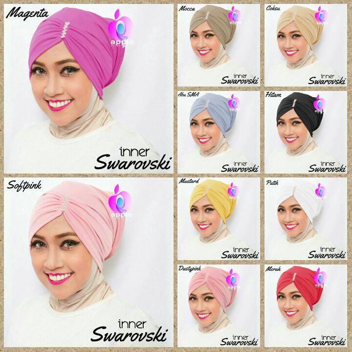 Ciput Inner Hijab Swarovski Ori Apple