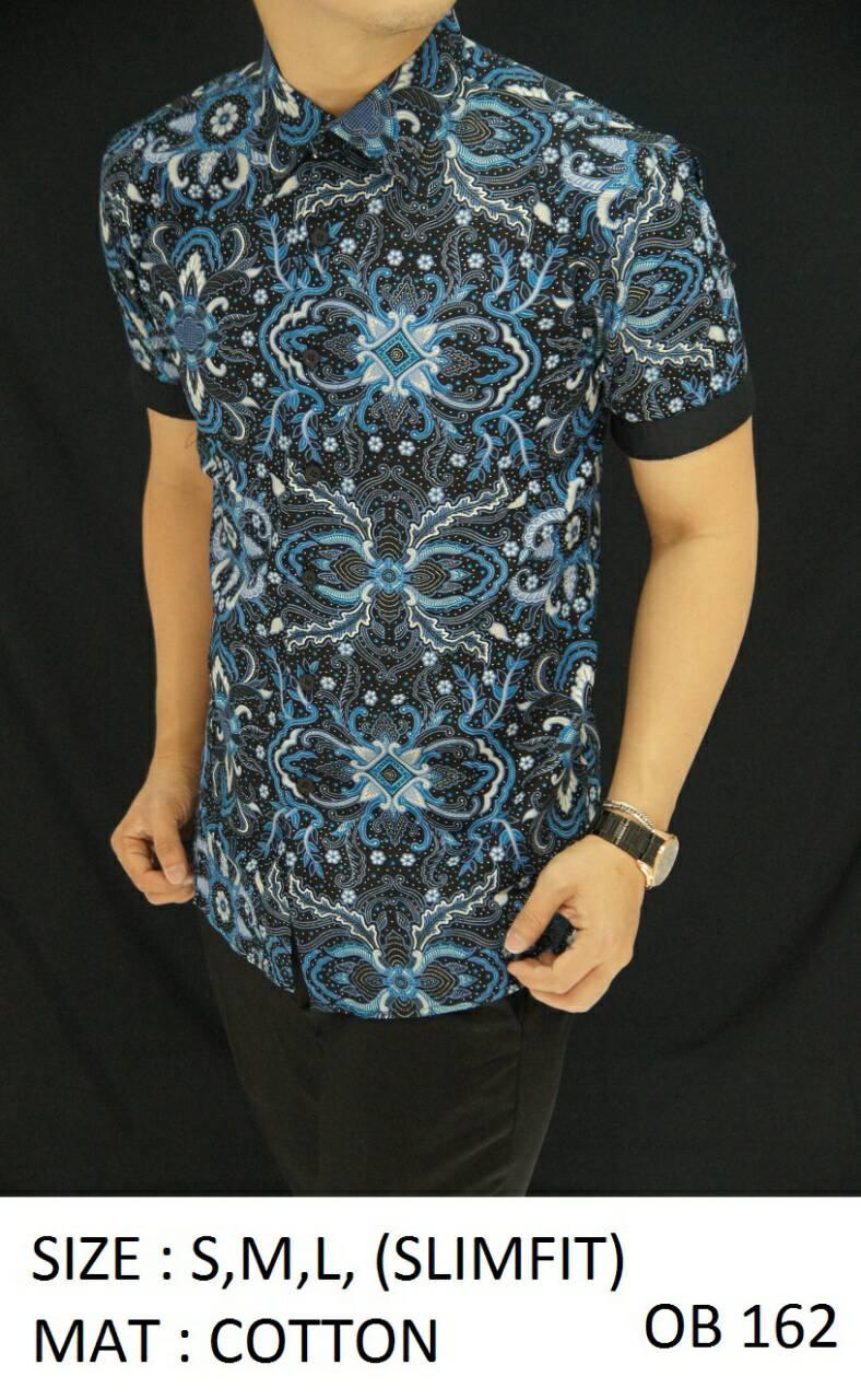 Batik Slim Fit - Kemeja Slim Fit Motif Keren OB162