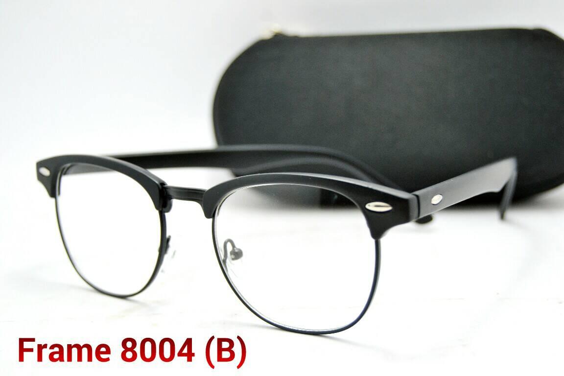 frame kacamata pria wanita kode 8004 lensa baca minus eyewear