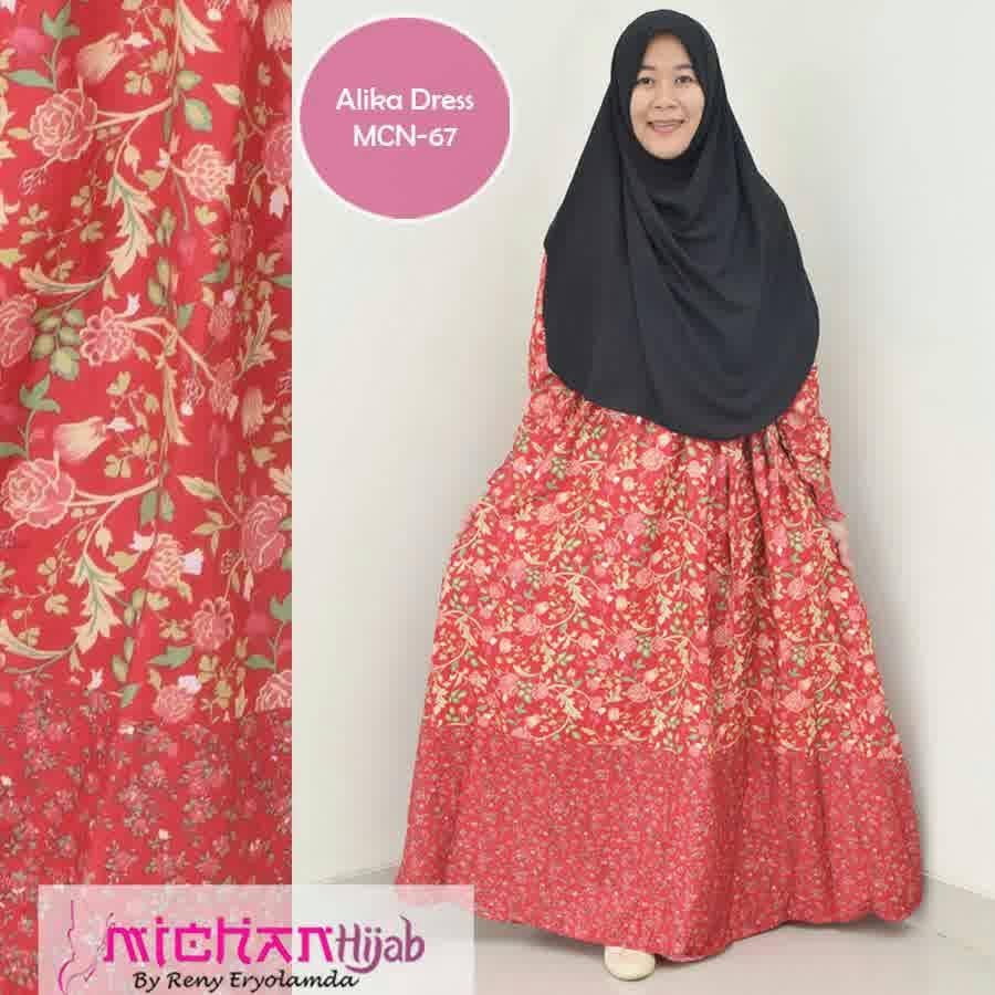 Naura MCN-67/ gamis katun jepang/ gamis busui /hijab