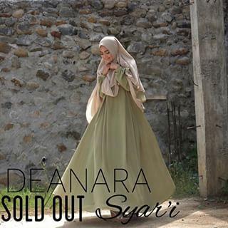 deanara syari hijau / baju muslim / gamis syari / baju hijab