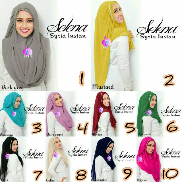 Selena Syria Instan By Apple Hijab Brand