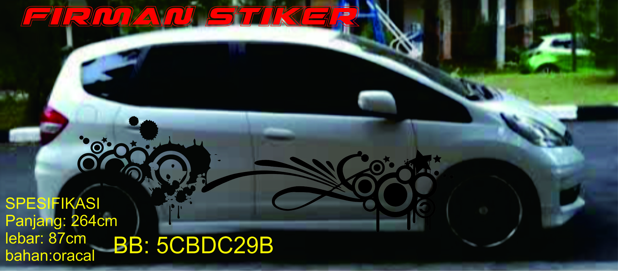 Cutting stiker honda jazz