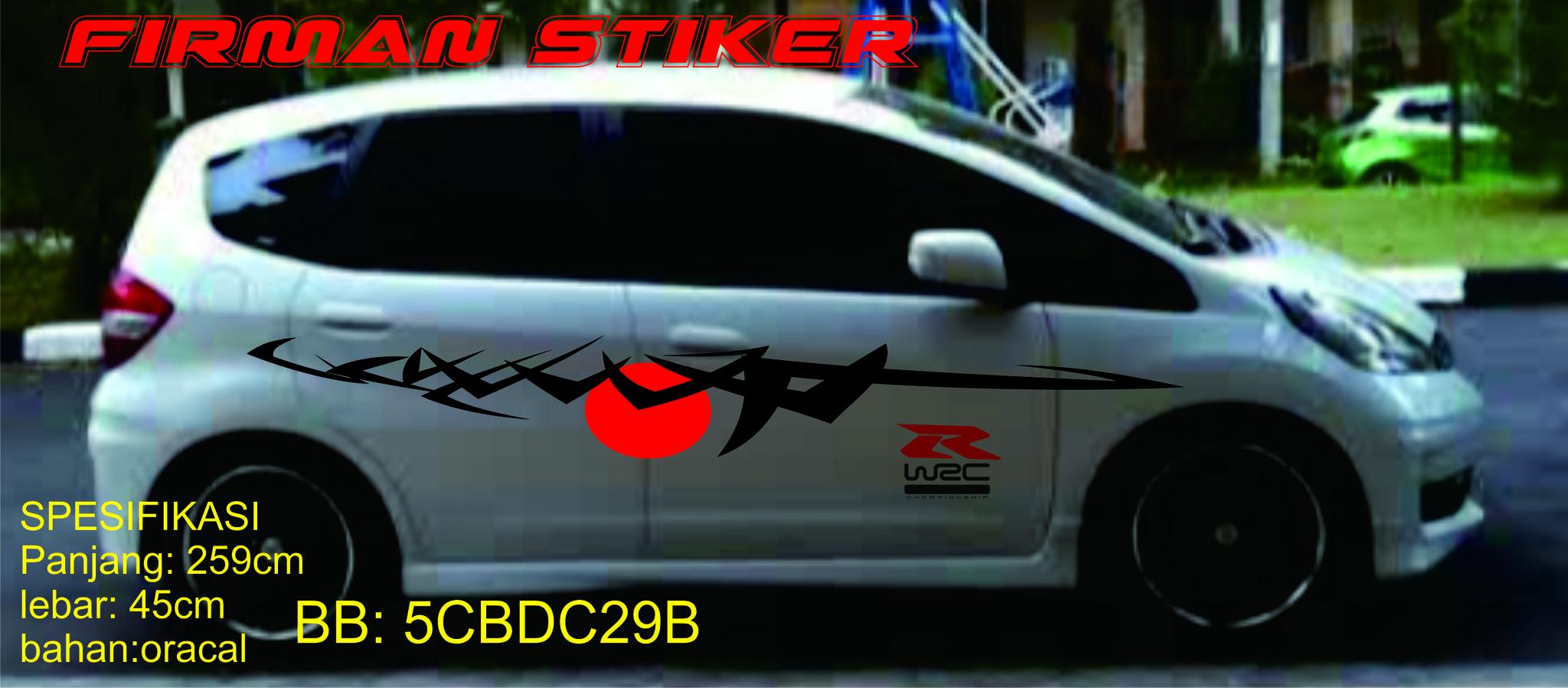 Cutting stiker honda jazz