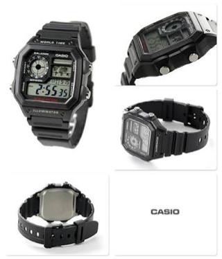 Jam Tangan Casio AE1200 WH - 1A Original / AE 1200 WH / AE 1200WH