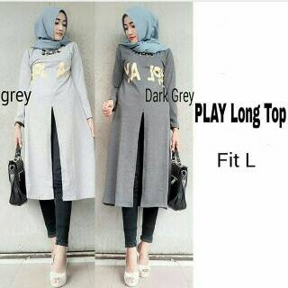 Fashion Hijab - play long top