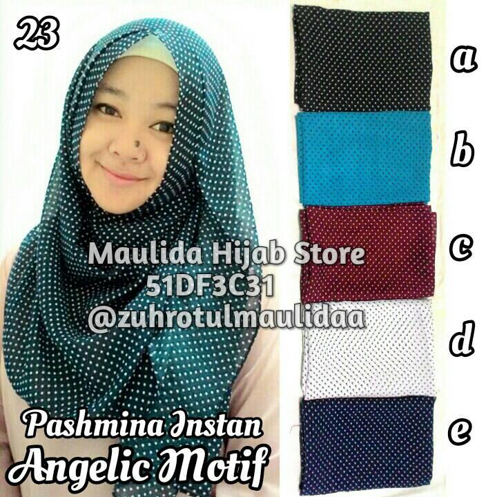 Pashmina instan angelic motif / grosir jilbab / maulida hijab store