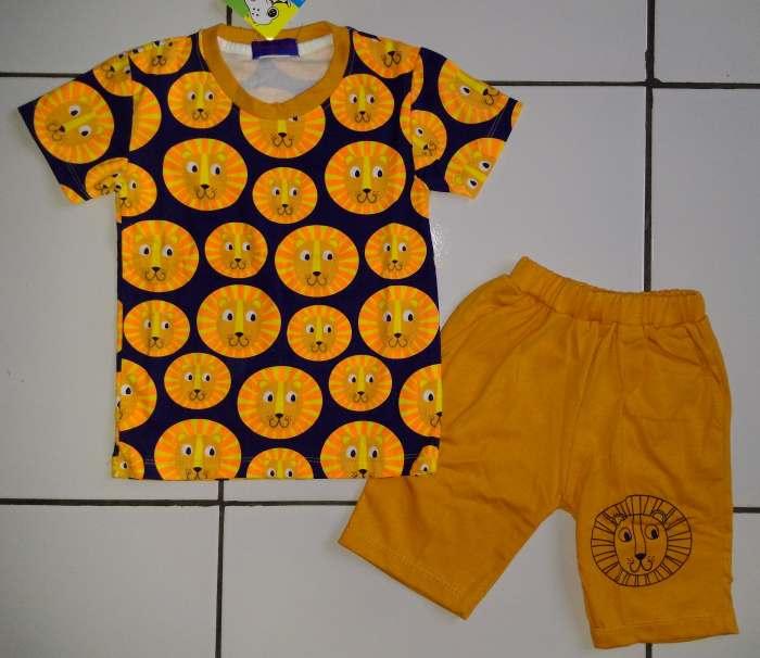 STKDL170 - Setelan Anak Cowok Lion Yellow Murah