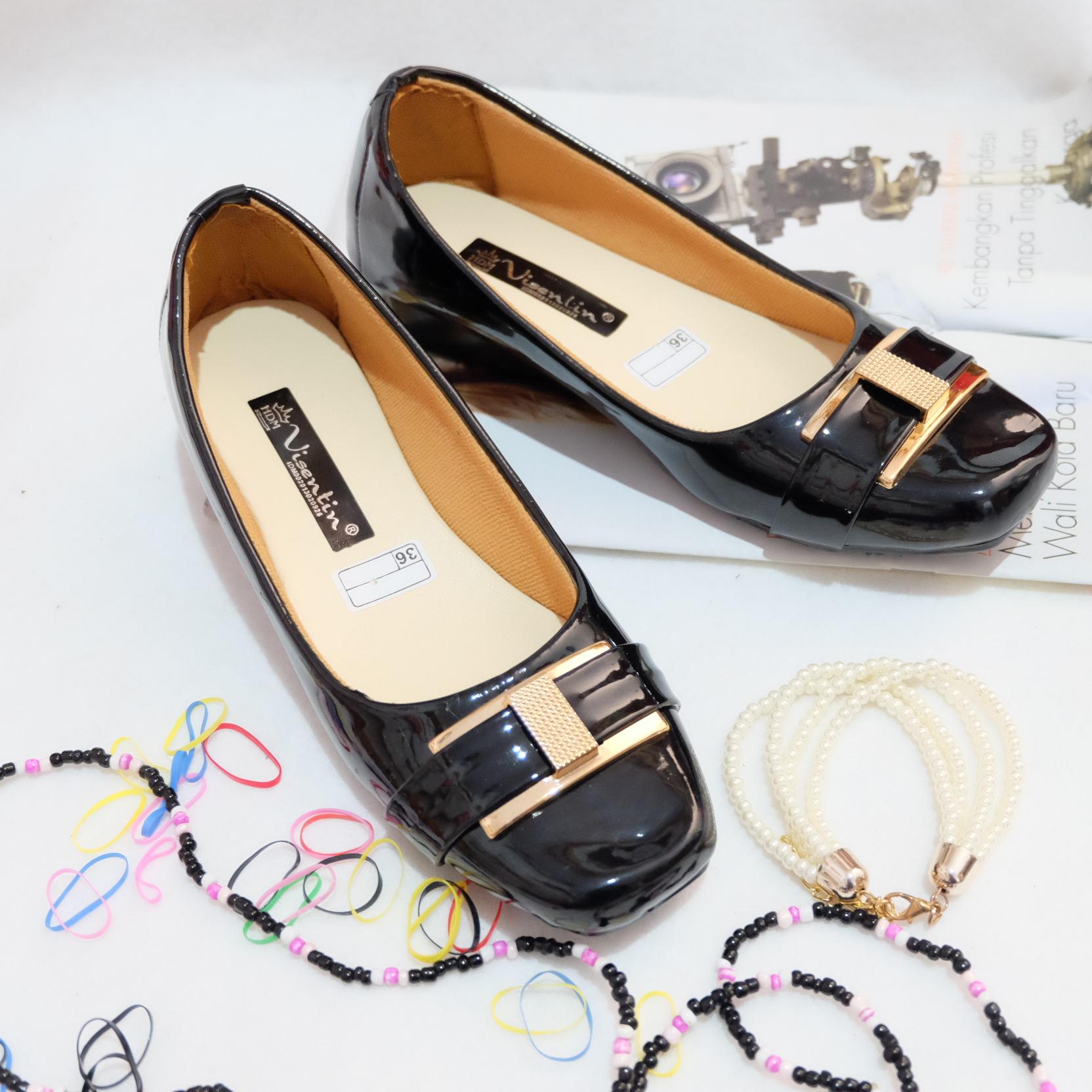 Balet Multicolor Daftar Source · Jual Sepatu Kerja Wanita Flat Shoes Kulit Black .
