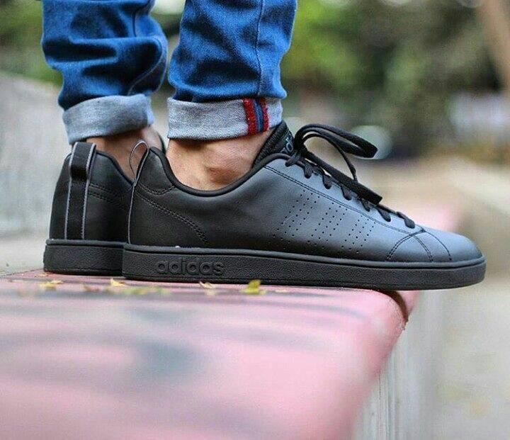 Adidas Neo Advantage Triple Black Kenmore Cleaningcouk