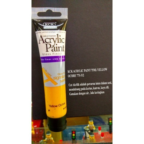 KCK ACRYLIC PAINT 75ML YELLOW OCHRE 775-312