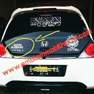 Emblem mobil nama huruf angka untuk brio suzuki ertiga apv swift jazz