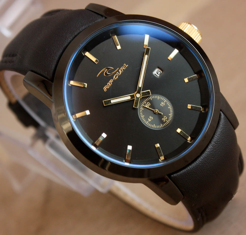 Ripcurl / Rip Curl Detroit Leather Black list Gold