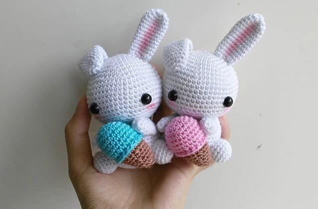 Amigurumi Boneka : Jual rabbit ice cream gurumi boneka rajut amigurumi khosasi