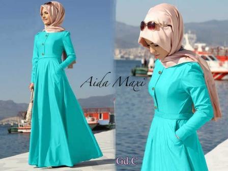 baju hijab/baju muslim/dress muslim/dress maxi/baju gamis/aida tosca