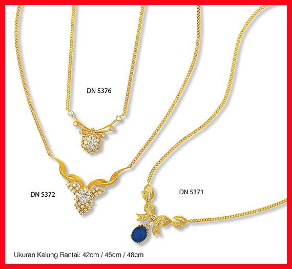 Perhiasan Kalung Emas Lapis 24 Karat DN 5372