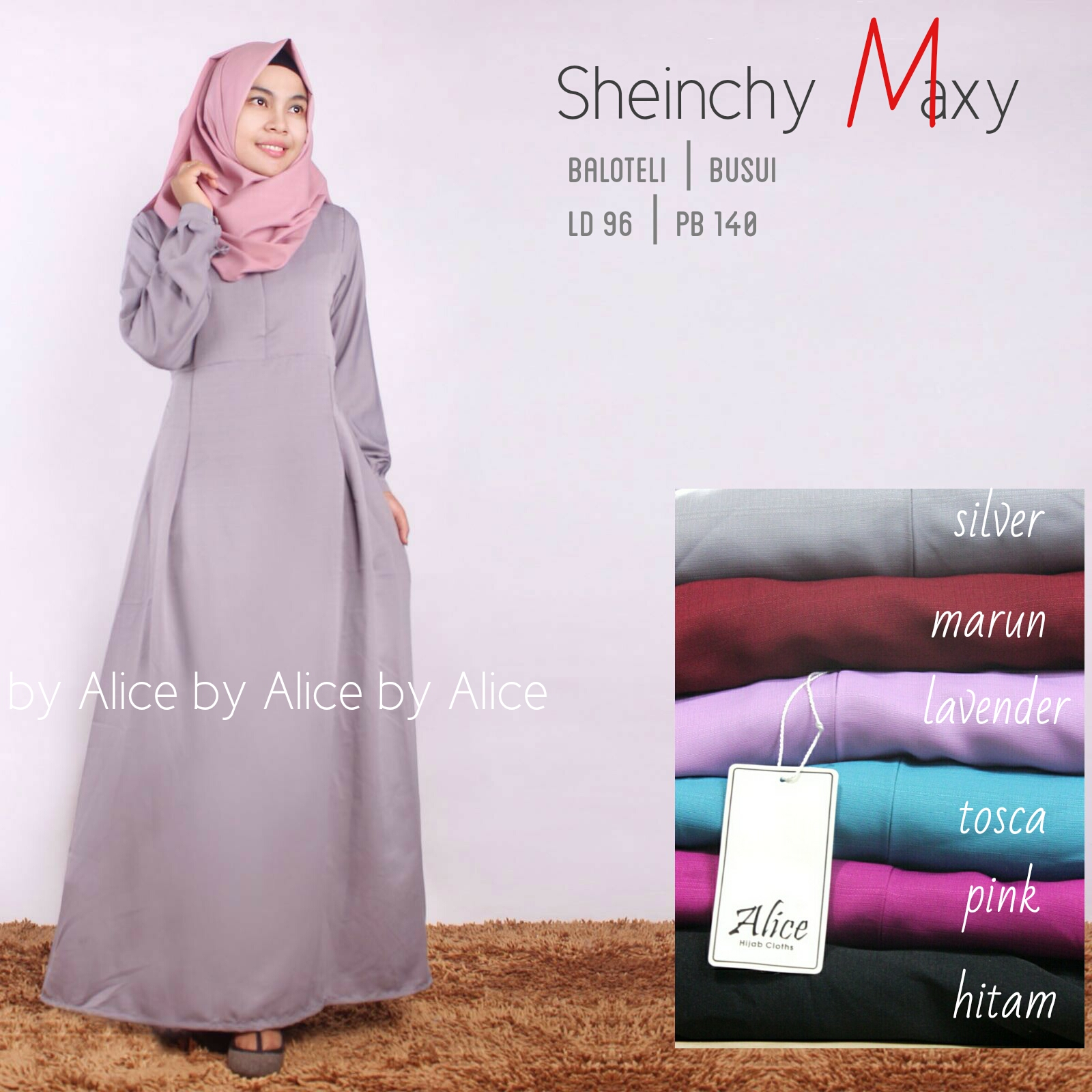 SUPPLIER HIJAB REALPICT : SHEINCHY MAXY BY ALICE